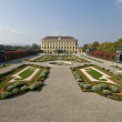 The baroque gardens of Schoenbrunn - Stock Photo