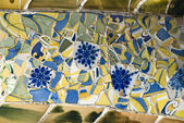 Mosaic in the Part Güell, Barcelona — Stock Photo