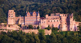 Il castello rosso a heidelberg, germania — Foto Stock