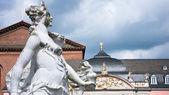 Baroque sculpture on the kurfuerstliches Palais, Trier — Stock Photo