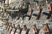 Armaty statek piracki — Zdjęcie stockowe