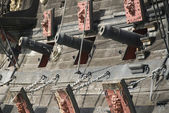 Cannons of a pirate ship — Stock Photo