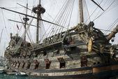 Stary statek piracki — Zdjęcie stockowe
