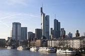 The skyline of Frankfurt am Main — Stock Photo
