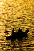 Fisher boat on the Nile River — ストック写真