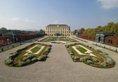 The baroque gardens of Schoenbrunn — Stock Photo