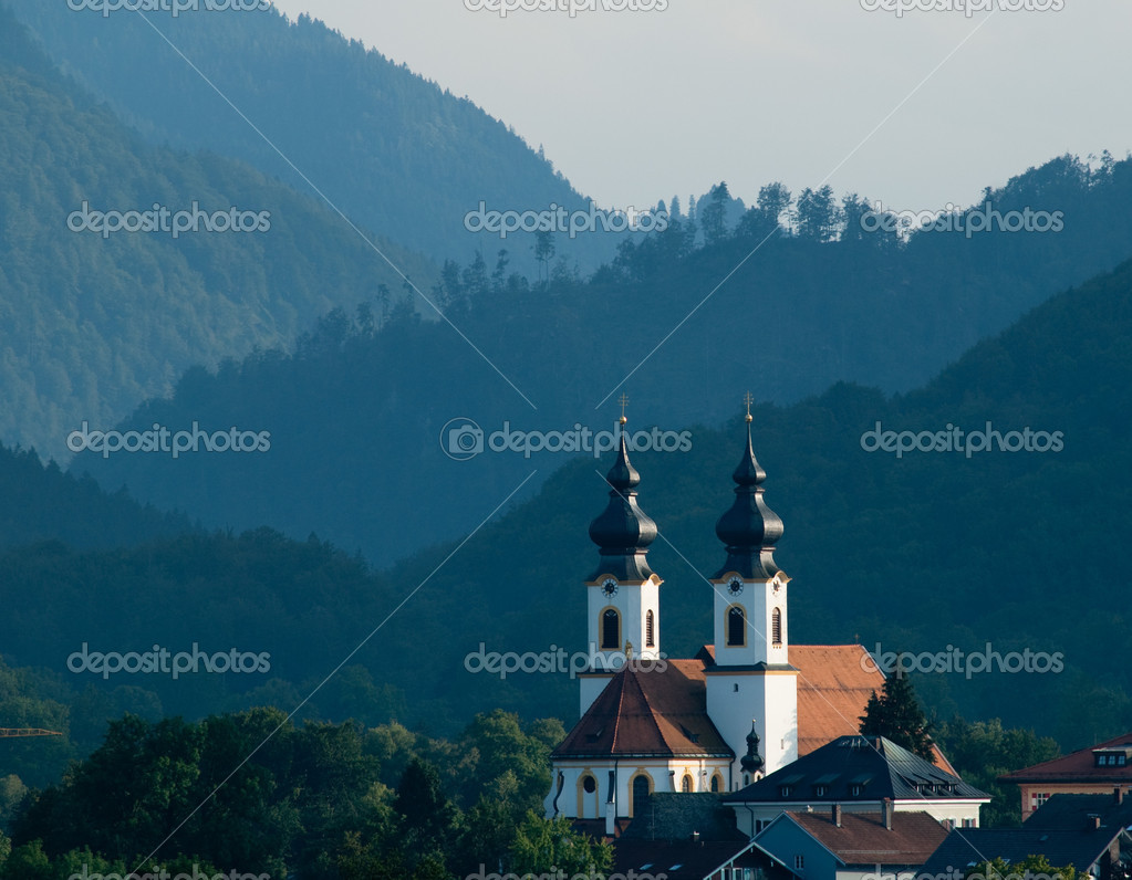 Traditional Bavarian Church,Ashau, Chiemsee — Stock Photo #3633505