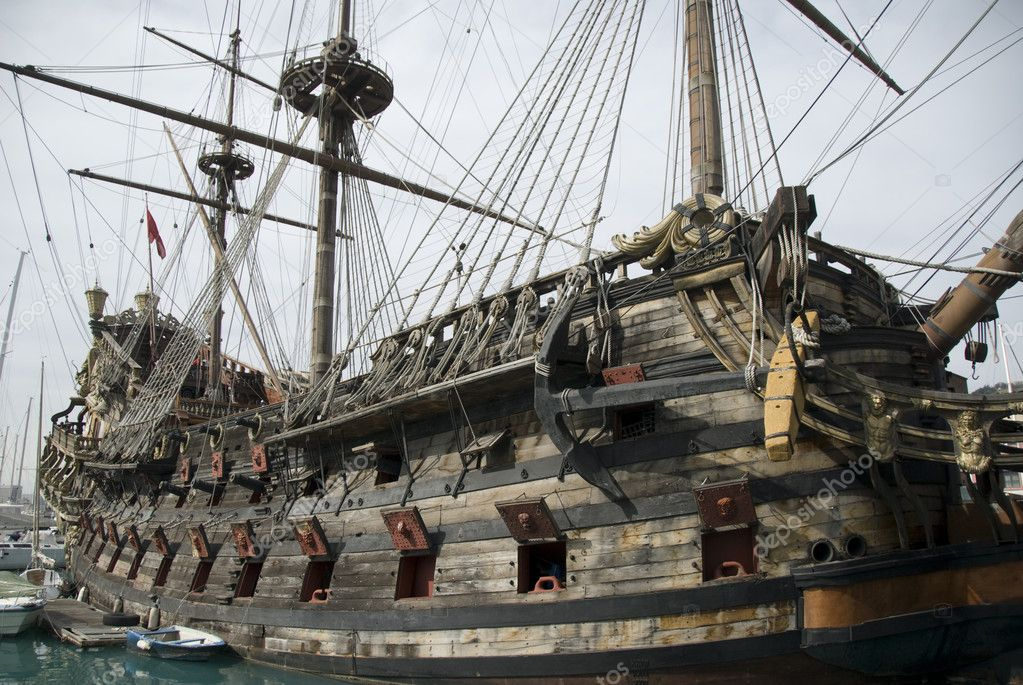 Old pirate ships