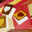 Beautiful romantic greeting cards — Stock Photo