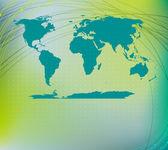 Мировой силуэт карты — Стоковое фото