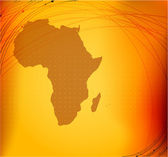 Africa map silhouette — Stock Photo