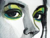 Illustrated beautiful eyes — Stock Photo