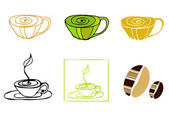 Illustrated coffee icons — Stock Photo