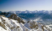 Snow covered mountains, Dachstein — Stock Photo