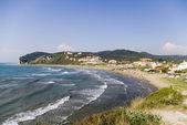 Vue plage de Summer resort, Grèce — Photo