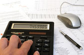 Financial calculations — Stock Photo