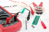 Working place of an electronic technitian — Stock Photo