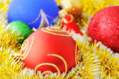Colorful Christmas decorations — Stockfoto