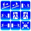 Stock Vector: Evacuation signs.Vector