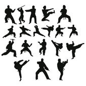 Silhouettes of positions.Vector — Stock Vector