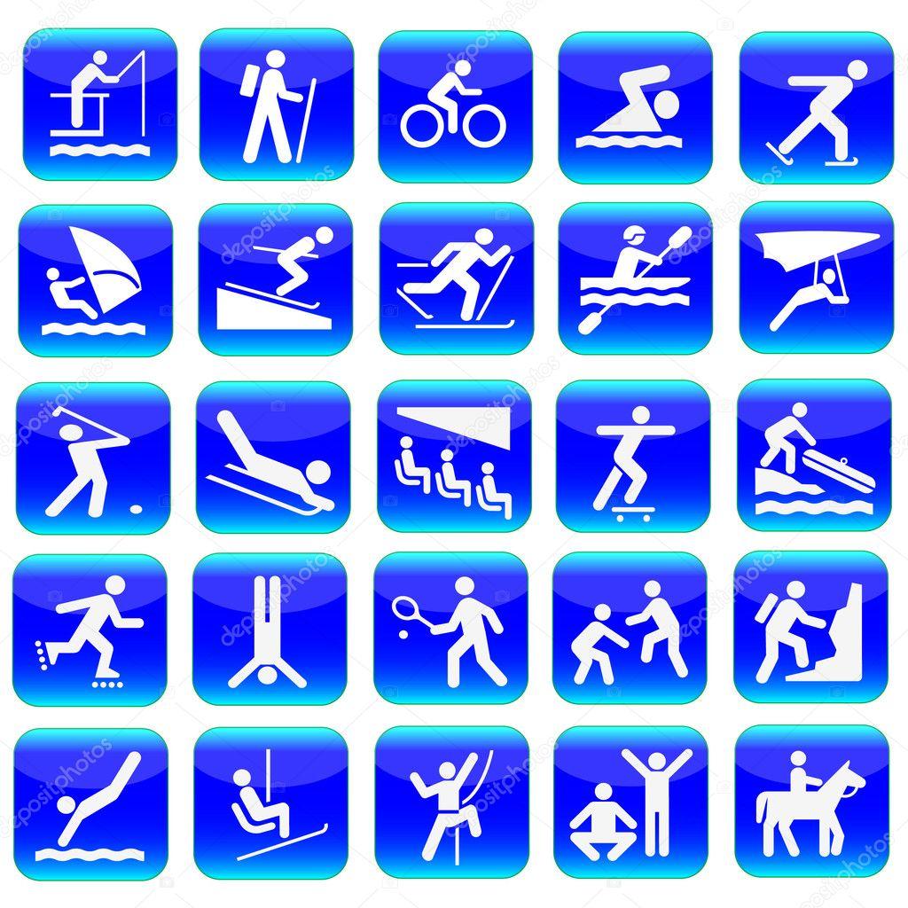 спортивные пиктограммы вектор: