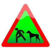 Warning, Wicked dog — Stock Vector
