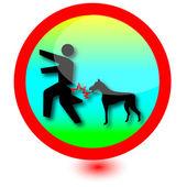 Sing beware of dog — Stock Vector