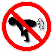 NO FARTING.Vector - Stock Vector