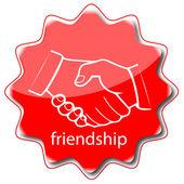 Icon friendship — Stock Vector
