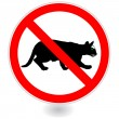 Royalty-Free Stock Vector Image: Sign,NO cats