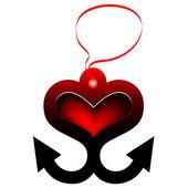 Anchor of Love.Vector — Stock Vector