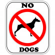 Royalty-Free Stock Vector Image: Sign, NO Dogs