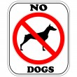 Sign, NO Dogs - Stock Vector