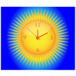 Clock and sun.Vector — Stock Vector
