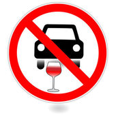 Sign, No drink and drive.Vector — Stock Vector