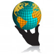 Royalty-Free Stock Vector Image: Hand and globe.Vector