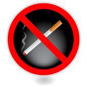 Ingen rökning sign.vector — Stockvektor