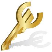 3d Golden Key to.Vector — Stock Vector