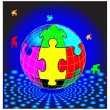 Royalty-Free Stock Vector Image: Puzzle globe.Vector