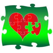 Láska puzzle.vector — Stock vektor