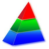 3d Сolored pyramid.Vector — Stock Vector