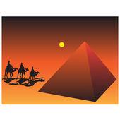 The Egyptian pyramids.Vector — Stock Vector
