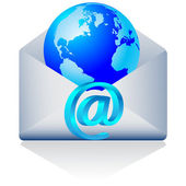 3d world email.Vector — Stock Vector