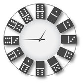 Clock of domino.Vector — Stock Vector