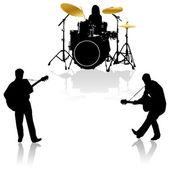 Musical ensemble.Vector — Stock Vector