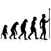 Human evolution.Vector — Vetor de Stock