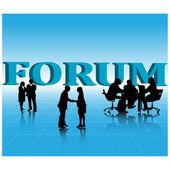 Business forum.Vector — Stock Vector