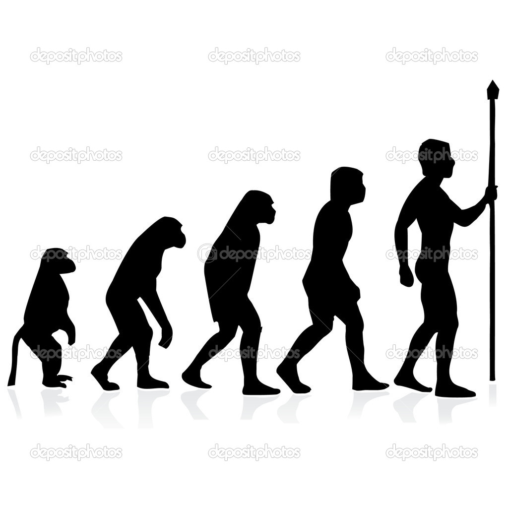 Human evolution.Illustration  Stok Vektr #3754531
