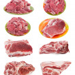 Fresh raw marble meat collection — Stock Photo