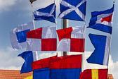 Bandeiras de sinalização — Foto Stock